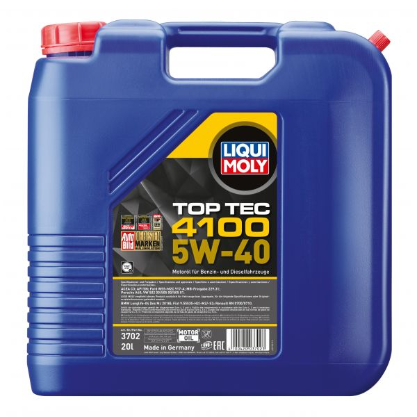 Liqui-Moly Sintetinė alyva Top Tec 4100 5W-40 20L