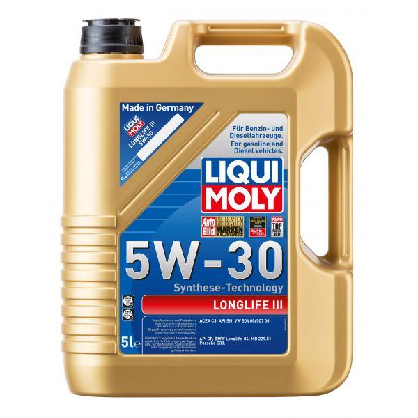 """LIQUI-MOLY sintetinė variklinė alyva """"LONGLIFE III 5W-30"""", 5L"""